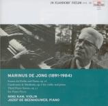 DE JONG - Kam - Sonate op.18 'Pacis, Doloris et Amoris'