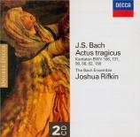 BACH - Rifkin - Gottes Zeit ist die allerbeste Zeit, cantate pour solist