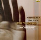 GORECKI - Runnicles - Symphonie n°3 op.36 'Symphony of sorrowful songs'