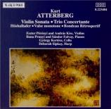 ATTERBERG - Perenyi - Sonate pour violoncelle et piano op.27