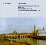 BACH - Schreier - Schleicht, spielende Wellen, cantate pour solistes, ch