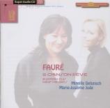 FAURE - Delunsch - La chanson d'Ève (Lerberghe), cycle de mélodies pour