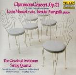 CHAUSSON - Maazel - Concert pour piano, violon et quatuor à cordes op.21