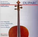 DUPARC - Meunier - Sonate pour violoncelle et piano