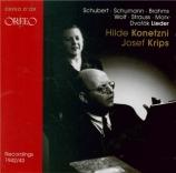SCHUBERT - Konetzni - Rastlose Liebe (Goethe), lied pour voix et piano o