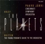 HOLST - Järvi - The Planets (Les planètes), pour orchestre op.32