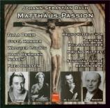 BACH - Kittel - Passion selon St Matthieu(Matthäus-Passion), pour solis