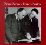 POULENC - Bernac - Banalités, cinq mélodies pour voix et piano sur des p