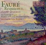 FAURE - Rutter - Requiem pour voix, orgue et orchestre en ré mineur op.4