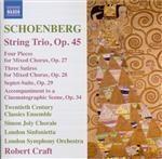 SCHOENBERG - Craft - Trio à cordes op.45