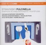 STRAVINSKY - Boulez - Pulcinella, ballet en 1 acte, pour soprano, ténor