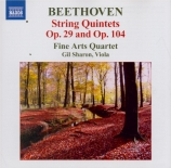 BEETHOVEN - Fine Arts Quart - Quintette à cordes n°2 op.29