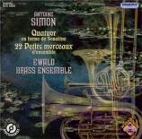 SIMON - Ewald Brass Ens - Quatuor en forme de sonatine op.23 n°1