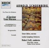 SCHOENBERG - Craft - Fünf Orchesterstücke op.16