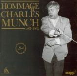 Hommage à Charles Munch (Festival de Strasbourg)