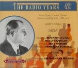 VERDI - Beecham - Aida, opéra en quatre actes Live 24 - 03 - 1939 Covent garden