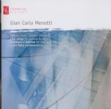 MENOTTI - Thorsen - Trio pour violon, clarinette et piano