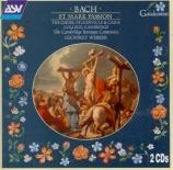 BACH - Webber - Passion selon Saint Marc BWV 247