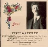 BEETHOVEN - Kreisler - Sonate pour violon et piano n°8 op.30 n°3