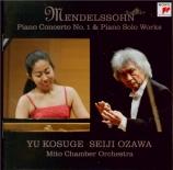 MENDELSSOHN-BARTHOLDY - Kosuge - Concerto pour piano et orchestre n°1 en