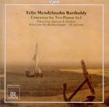 MENDELSSOHN-BARTHOLDY - Schirmer - Concerto double pour deux pianos et o