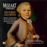 Mozart enfant (Oeuvres sacrées)