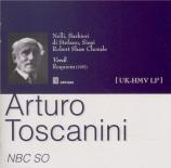 VERDI - Toscanini - Messa da requiem, pour quatre voix solo, choeur, et o import Japon