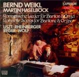 Lieder romantiques pour baryton et orgue