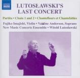 LUTOSLAWSKI - Lutoslawski - Partita pour violon et orchestre