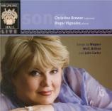 WAGNER - Brewer - Wesendonck-Lieder, pour voix et piano WWV.91a
