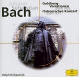 BACH - Kirkpatrick - Variations Goldberg, pour clavier BWV.988