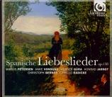 SCHUMANN - Petersen - Spanisches Liebeslieder (Geibel), cycle de dix mél