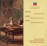 MOZART - De Peyer - Concerto pour clarinette et orchestre en la majeur K