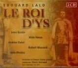 LALO - Dervaux - Le roi d'Ys (Live Paris Radio 10 - 9 - 1973) Live Paris Radio 10 - 9 - 1973