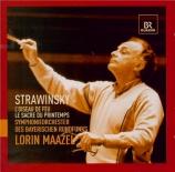 STRAVINSKY - Maazel - L'oiseau de feu, conte dansé en 2 tableaux, pour o