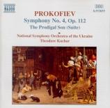 PROKOFIEV - Kuchar - Le fils prodigue, suite symphonique pour orchestre