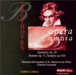 BEETHOVEN - Academy of St M - Quintette à cordes n°2 op.29