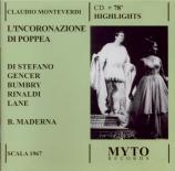 MONTEVERDI - Maderna - Incoronazione di Poppea (L') : extraits live Scala di Milano 27 - 1 - 1967