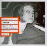 VERDI - Rossi - Falstaff, opéra en trois actes (live Roma 14 - 03 - 1959) live Roma 14 - 03 - 1959
