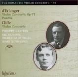 ERLANGER - Graffin - Concerto pour violon en ré mineur op.17