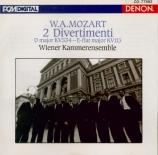 MOZART - Wiener Kammeren - Divertimento pour orchestre n°17 K.334 import Japon