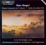 REGER - Segerstam - Concerto pour piano et orchestre en fa mineur op.114