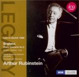 BRAHMS - Rubinstein - Concerto pour piano et orchestre n°2 en si bémol m live in Zürich 1966
