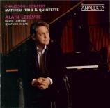 CHAUSSON - Lefevre - Concert pour piano, violon et quatuor à cordes op.2