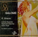 STRAUSS - Böhm - Salomé, opéra op.54 (live Wien, 22 - 12 - 1972) live Wien, 22 - 12 - 1972