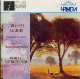 BRAHMS - Mitropoulos - Symphonie n°3 pour orchestre en fa majeur op.90 live New York 1958 et 1956