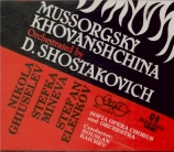 MOUSSORGSKY - Raichev - Khovantchina (La) orchestration de Chostakovitch