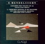 MENDELSSOHN-BARTHOLDY - Cantelli - Concerto pour violon et orchestre en