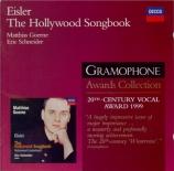 EISLER - Goerne - Hollywood Liederbuch (Das)