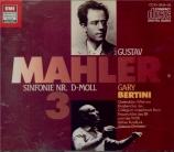 MAHLER - Bertini - Symphonie n°3 (import Japon) import Japon